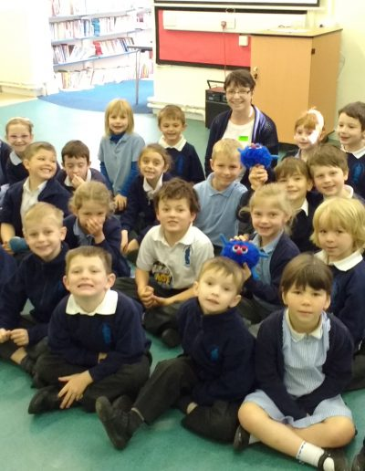 Primary school class enjoys author visit with Josie Dom