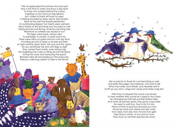 A4 Art Print of Animalympics Closing Ceremony