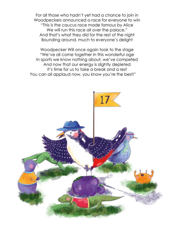A4 Art Print of Animalympics Caucus race