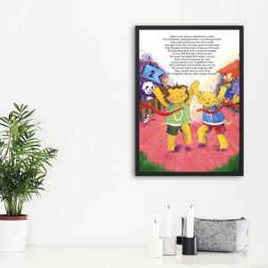 Animalympics art print showring lions running