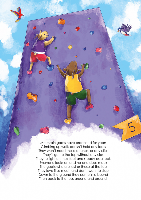 A4 Art Print of Animalympics Goats Sport Climbing
