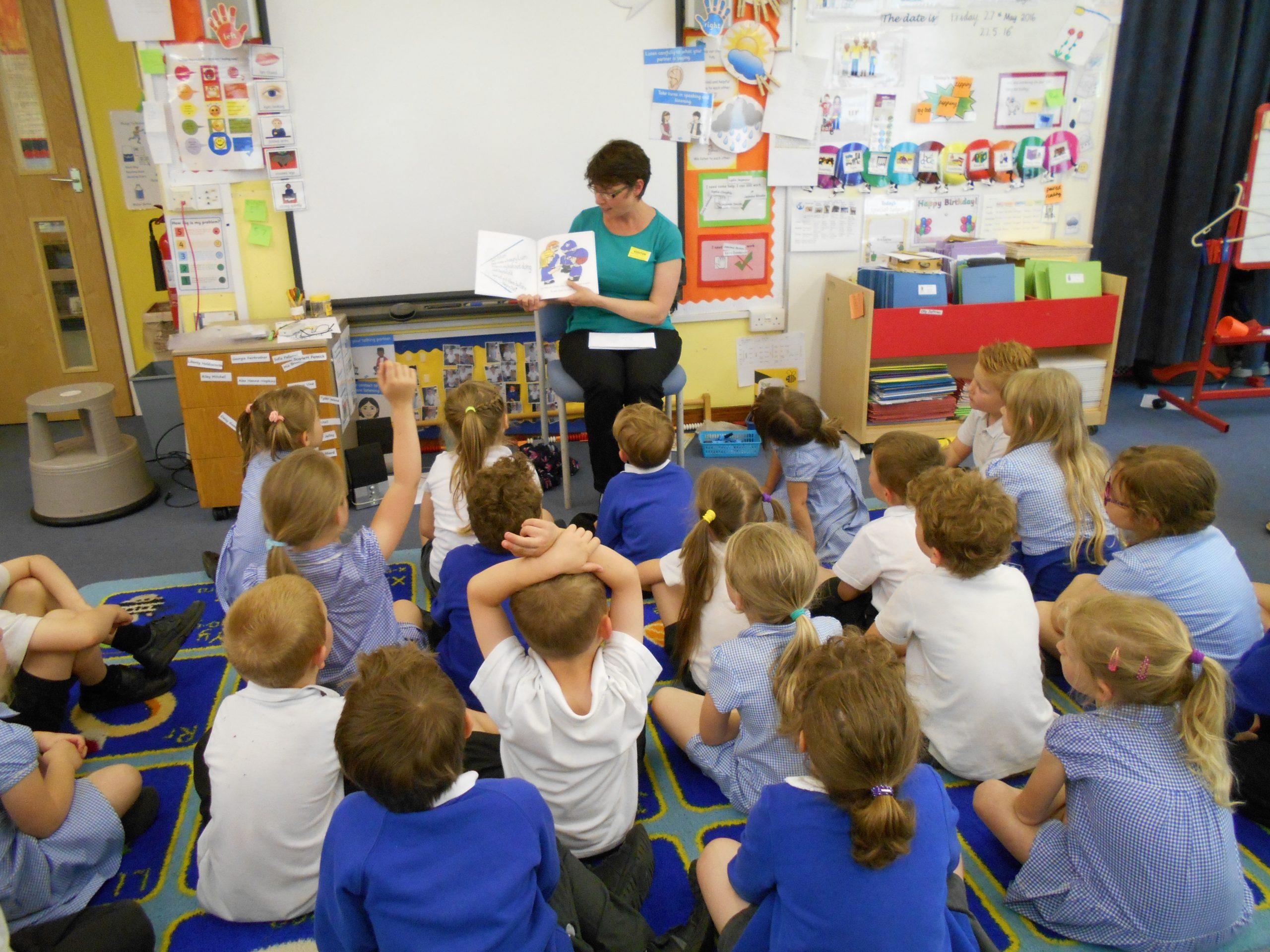 Josie Dom during a school visit