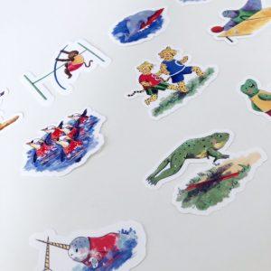 Animalympics sticker set